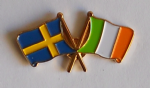 Sweden and Ireland Friendship Flag Pin Badge